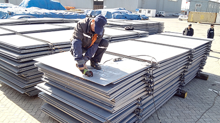 Fast delivery large stock Q345B low alloy high strength steel plate cut to required size