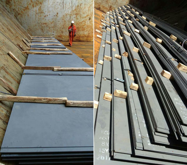 2000 tons ASTM A36 carbon steel plate to Peru